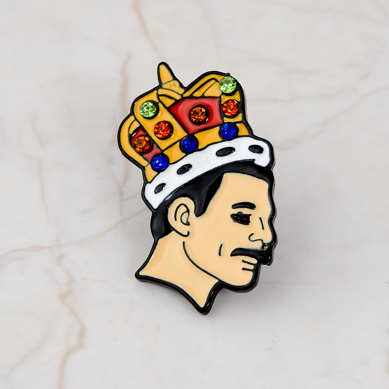 Rock You Enamel Pin OD HS Queen David Bowie MJ Brooches Bag Clothes Lapel Pin Badge Rock and Roll Band Jewelry Music Lovers 4
