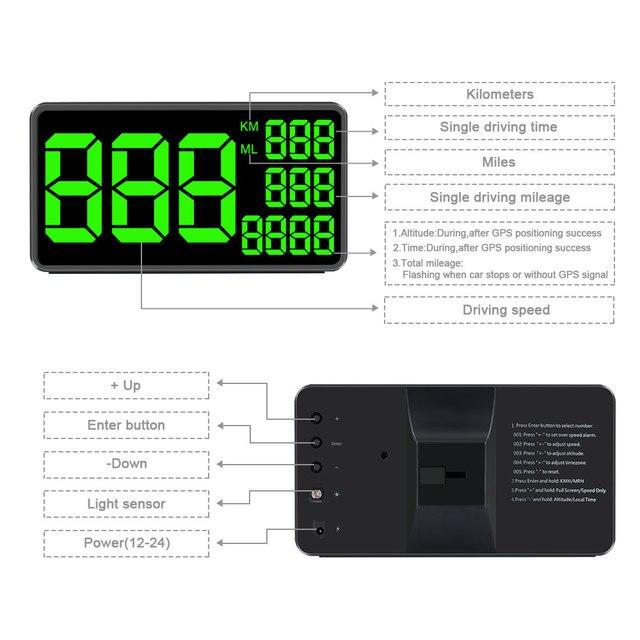 Kilometers To Mph >> Gps Speedometer C60 Hud Display Car Km H Mph Aliexpress