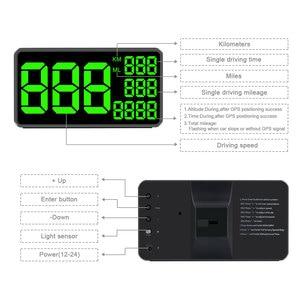 Image 4 - Gps velocímetro c60 exibição hud carro km/h mph china barato c80 auto eletrônica velocidade display c90 c1090 grande tela a100 hud