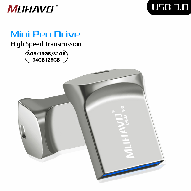 USB 3.0 Pendrive 32GB 16GB 64GB Mini Metal High Speed USB Flash Drive 128GB 8GB USB Stick Waterproof Usb Flash Drive