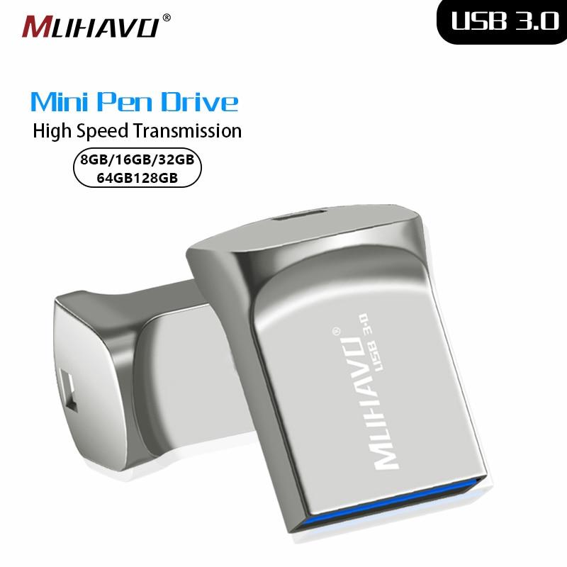 USB 3.0 Pendrive 32GB 16GB 64GB Mini Metal High Speed USB Flash Drive 128GB 8GB USB Stick Waterproof Usb Flash Drive