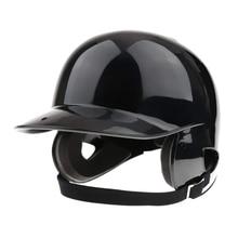 Batter's Helmet Softball Baseball Helmet Double Flap - Black цена