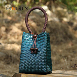 Bohemian Wicker Woven Women Handbags National Rattan Lady Large Totes Summer Beach Straw Bags Vintage Travel Purse Bali Sac 2020