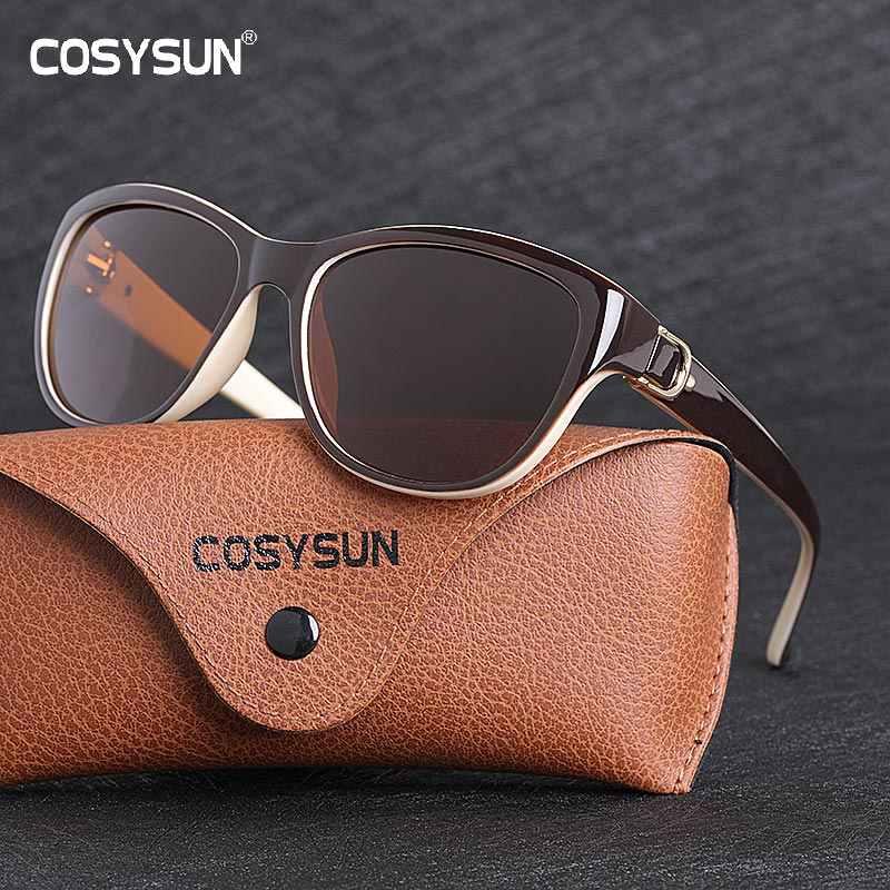 2019 Luxury Designer Designerแว่นตากันแดดผู้หญิงPolarized CAT EYE Lady Elegantดวงอาทิตย์แว่นตาหญิงแว่นตาขับรถOculos De Sol