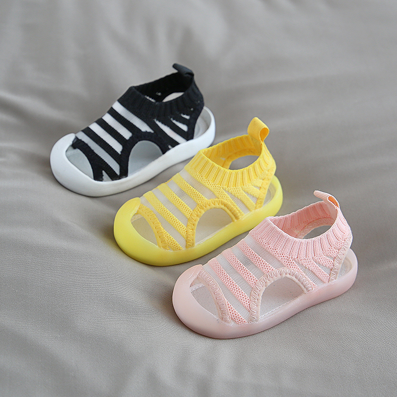 2020 Summer Baby Girls Boys Casual Shoes Infant Toddler Sandals Anti-collision Non-Slip Kids Soft Bottom Children Beach Sandals