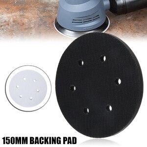Image 1 - Almofada para interface de 6 Polegada mm, 6 orifícios, gancho e laço, espuma, almofada traseira para proteção, disco de lixamento acessórios sander