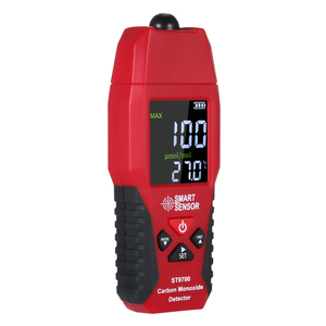 2 in 1 CO Gas Detector Temperature Meter Carbon Monoxide Analyzer Air Quality Monitor Gas Leak Analyzers LCD Color Display