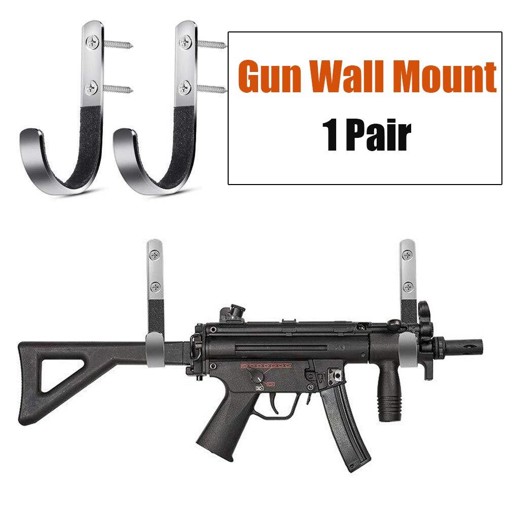 Soporte para armas Montaje en pared Exhibidores de sujeci/ón Soporte horizontal para armas y ganchos de escopeta Almacene cualquier rifle Escopeta Espada Sable Madera dura