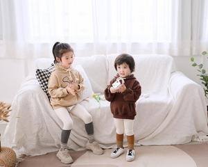 Image 4 - Fashion Sport Hoodies Family Matching Outfits Smile Sweatshirts for a Family of Three Casual Pockets Hooded Clothes Couple Wear