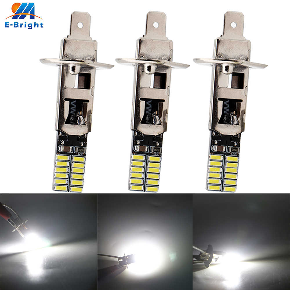 10X 12V H1 H3 4014 24 SMD 360LM Canbus Bulb Led SUV TRUCK Indicator Signal Fog Lamp Dt Running Light Lamp No Error