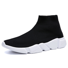 Hot Sale Lightweight Casual Shoes Comfortable Men Sneakers Breathable Non-slip Wear-resistant Walking Fabric Men Shoes Black