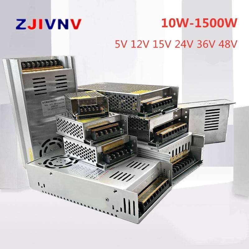 Switching Power Supply Light Transformer 10W 1500W AC 110V 220V To DC 5V 12V 24V 48V for Led CCTV High Quality(China)