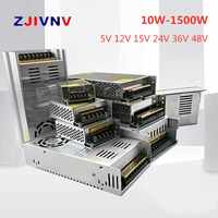 Switching Power Supply Light Transformer 10W 1500W AC 110V 220V To DC 5V 12V 24V 48V for Led CCTV High Quality