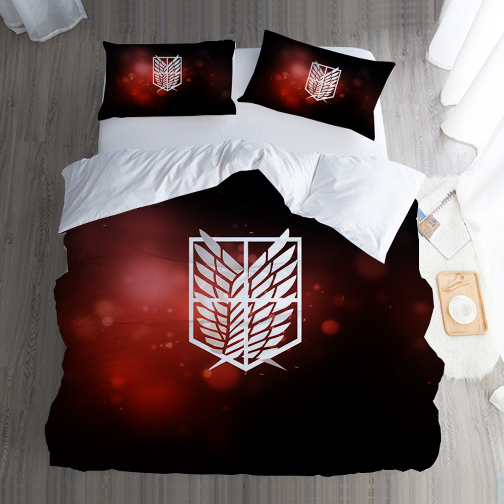 Japanese Anime Attack On Titan Bedding Twin Full Queen Super King Single Double Size Duvet Covers With Pillowcase