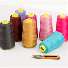 Multi-Purpose Colorful Sewing Thread Reel 3000 Yards Pure Cotton Thread Sewing Machine Colorful Spools Sewing Thread(China)