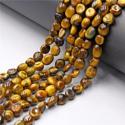 Natural Irregular Yellow Tiger Eye GemStones Beads 6-8mm Loose Spacer Beads For Jewelry Making DIY Bracelet Necklace 15