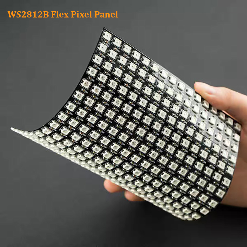 1 Pcs 16x16 Pixel WS2812B LED Heatsink Chip Digital Individually Addressable Led Module Panel Flexible DIY Display Board DC5V