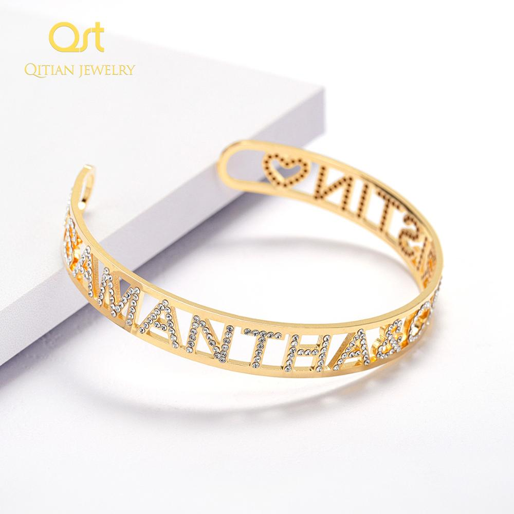 Gold Name Bangles Personalized Bangle