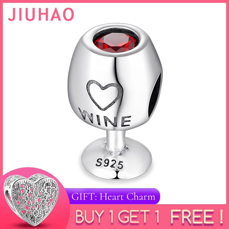 Bracelet Charm Wine-Cup Jewelry-Making Fine-Beads 925-Sterling-Silver Red Original Pandora