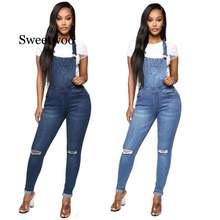 Новые весенние женские комбинезоны крутой джинсовый комбинезон