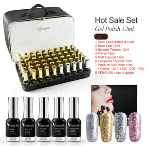 Image 3 - 120pcs*12ml VENALISA Gel Varnish Whole Set Nail Salon Used Gel Polish Kits Luxury Color Palette Shining Glitter Starry Soak Off