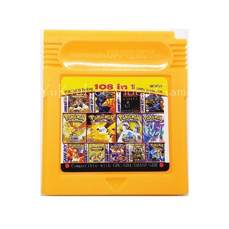 108 в 1 MC007 картридж для видеоигр консоль карта для Nintendo GBC GBA серии консолей английская версия Запасные части      АлиЭкспресс