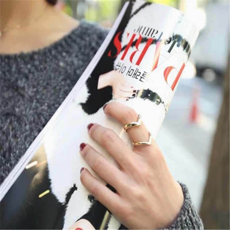 Moda złoty regulowane pierścienie otwarcia dla kobiet srebrne wesele ślub wesele pierścienie podwójne-deck pierścień kobiety pierścionek zaręczynowy biżuteria prezenty dla pań