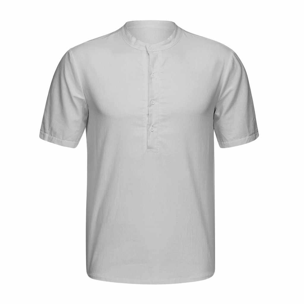Mode herren shirts camisa Casual Kurzarm shirt männer Baggy Baumwolle Mischung Einfarbig Männlichen Bluse Tops camisa masculina