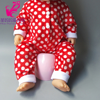 Dolls Rompers Fit 43cm  Baby Doll 18 Inch girl boy Doll pajama Clothes kids play toys
