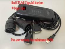 Adaptateur ET 3 Version USB pour outil de Diagnostic de camion, câble 9 broches 14 broches, vrai cat ET3 2019A 2019C 2020A plus, 2020