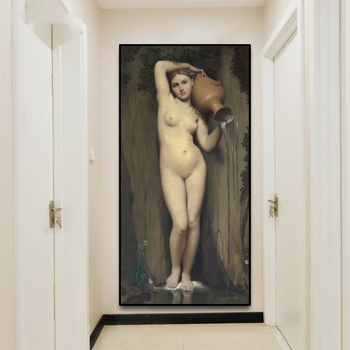 《Spring》Jean Auguste Dominique Ingres Painting Classic Nude Art Canvas Retro Poster Picture Home Decor Room Aisle Decoration image