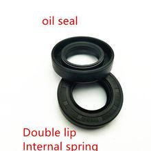 NBR framework oil seal TC18 20 22 23 25 27 28*39*6 7 8 9 10 10.5mm double lip with clamp spring