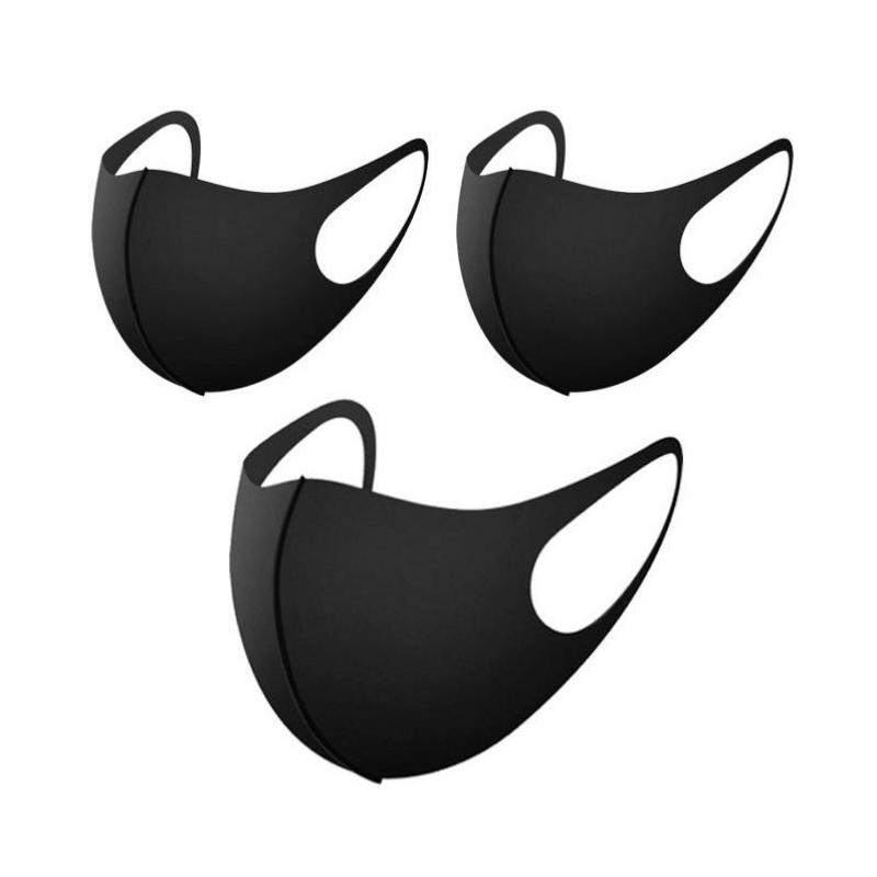 10pcs Mask Mouth Face Anti Pm2.5 Dust Mouth Mask Activated Carbon Filter Korean Fabric Face Mask Cotton Black Dustproof Sport