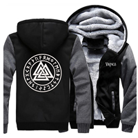 Odin Vikings Jackets Sweatshirt Men Scandinavian Runes Valhalla Athelstan Hoodie Winter Thick Fleece Anarchy Coat Sportswear