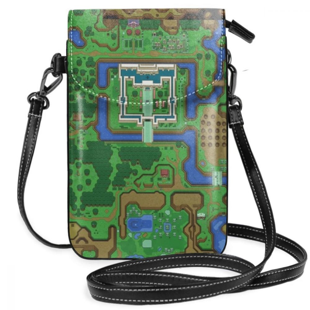 Legend Of Zelda Shoulder Bag The Legend Of Zelda A Link To The Past Map Leather Bag Woman Travel Women Bags Crossbody Mini Purse