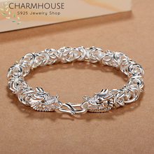 Charmhouse Silver Bracelets For Men Dragon Chain Bracelet Bangles Pulseira Wristband Fashion Jewelry Accessories Bijoux цена в Москве и Питере