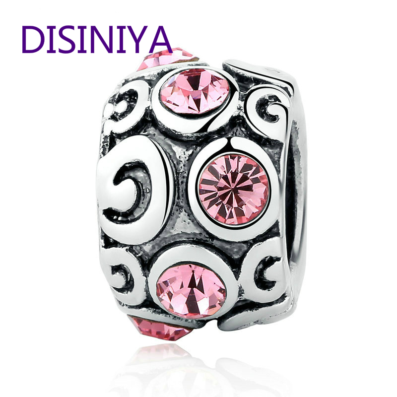 DISINIYA 2019 New Arrival Silver Charm Beads Fit Original Bracelet Pendants Women Fashion DIY Jewelry Making SDP5319 in Beads from Jewelry Accessories