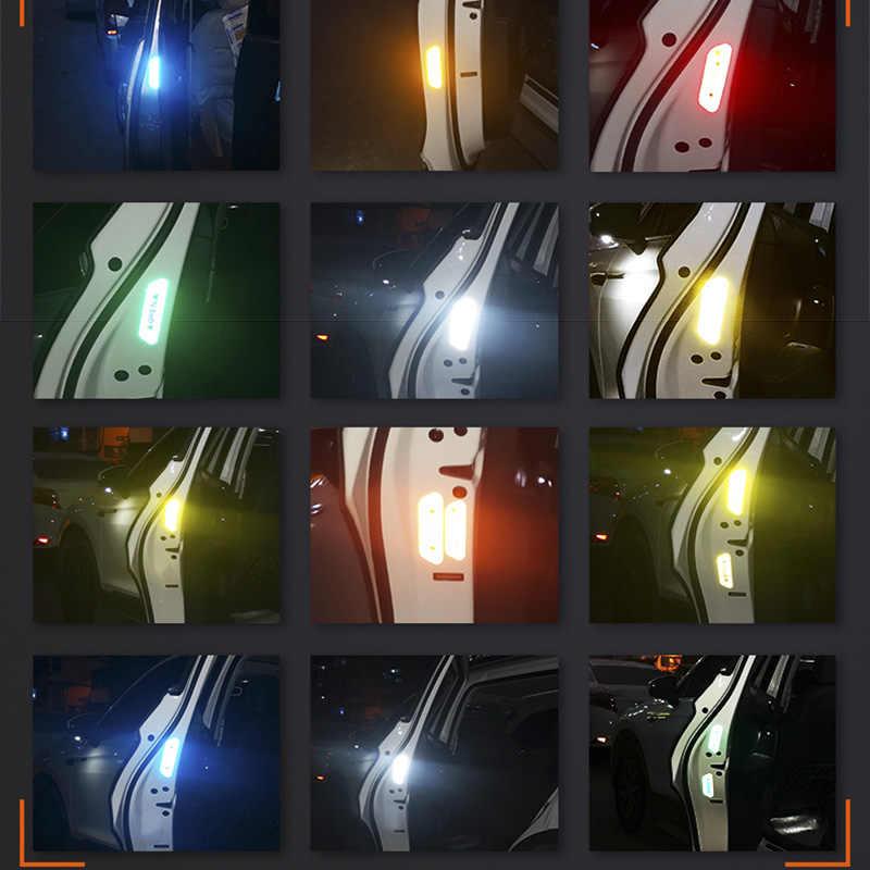 4 개/대 자동차 오픈 반사 테이프 경고 마크 반사 자동차 도어 스티커 아우디 A1 A2 A3 A4 A5 A6 A7 A8 S4 S5 액세서리