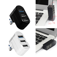 DATEN FROSCH Mini 3 Ports USB 2.0/3 0 Hub Drehbare Adapter Für Laptop PC Notebook Gedreht 270 Grad Starke kompatibilität HUB
