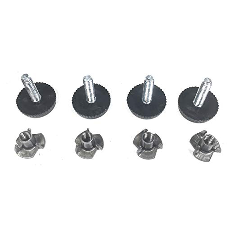 Adjustable Leveling Feet M8 Table Desk Cabinet/&M8 Tee Nuts Inserts