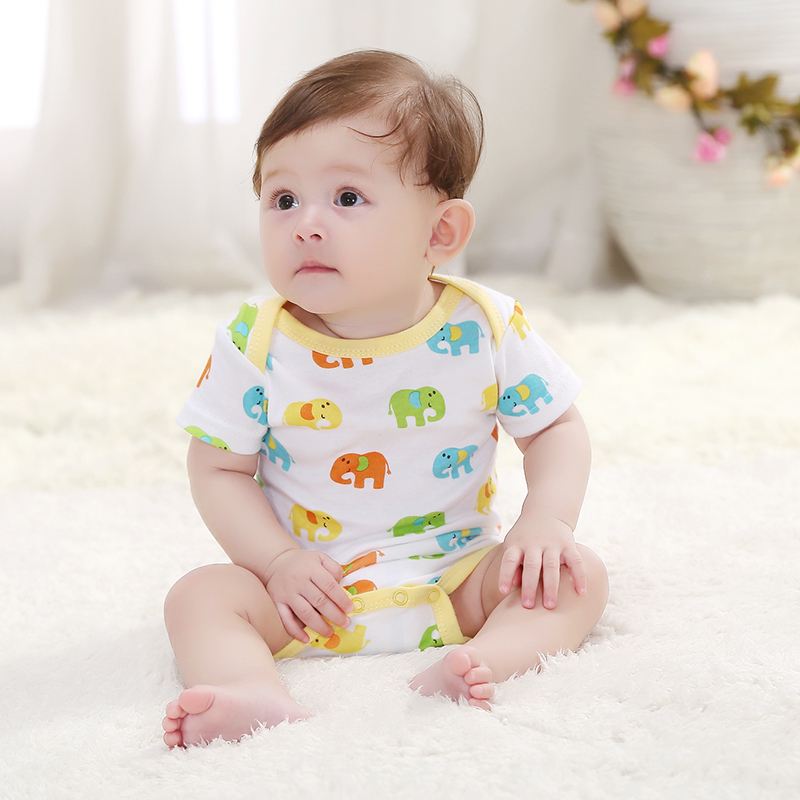 2020 Newly Baby Bodysuit Summer Clothes Boys Girls Jumpsuit Short Sleeve Cotton Clothes Infant Outfits For Kids Gifts