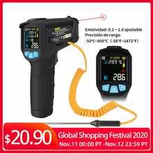 MESTEK  50 800 Degree Digital Thermometer Humidity Meter Infrared Thermometer Hygrometer Temperature Humidity Meter Pyrometer