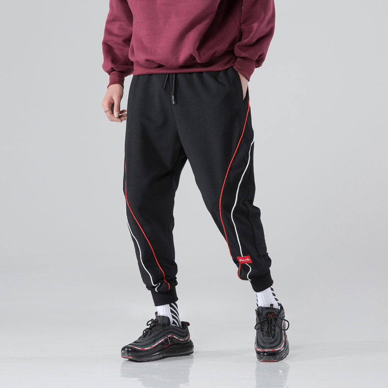 Pant Male Jogger Men Trousers Harem Streetwear Hip-Hop Loose Autumn Casual 3-Colors Cotton