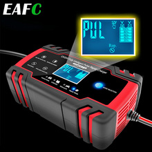 Car Battery Charger 12/24V 8A Touch Screen Pulse Repair LCD Battery Charger For Car Motorcycle Lead Acid Battery Agm Gel Wet