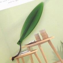Paper-Cutter Letter-Opener Vintage Watercolor Plastic Leaf Practical Salix Green European-Style