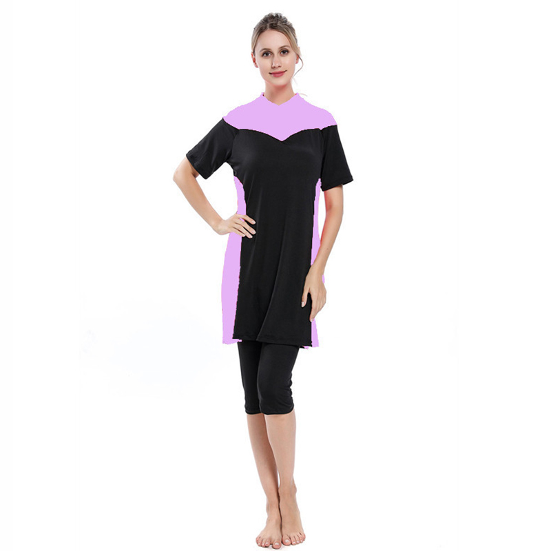 Muslim Swimwear Women Bathing Suit Burkinis Islamic Swimsuit Modest Muslim Swimming Beachwear Swimsuit 3pcs