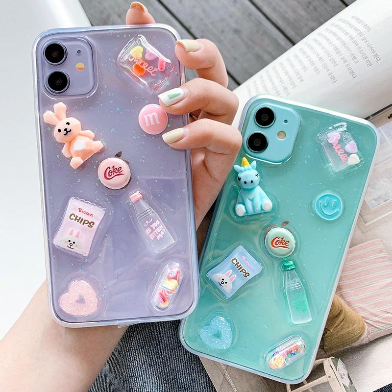 3D Cartoon Case For Iphone 11 Pro Max 12 Mini SE 2020 XR 8 7 Plus X XS