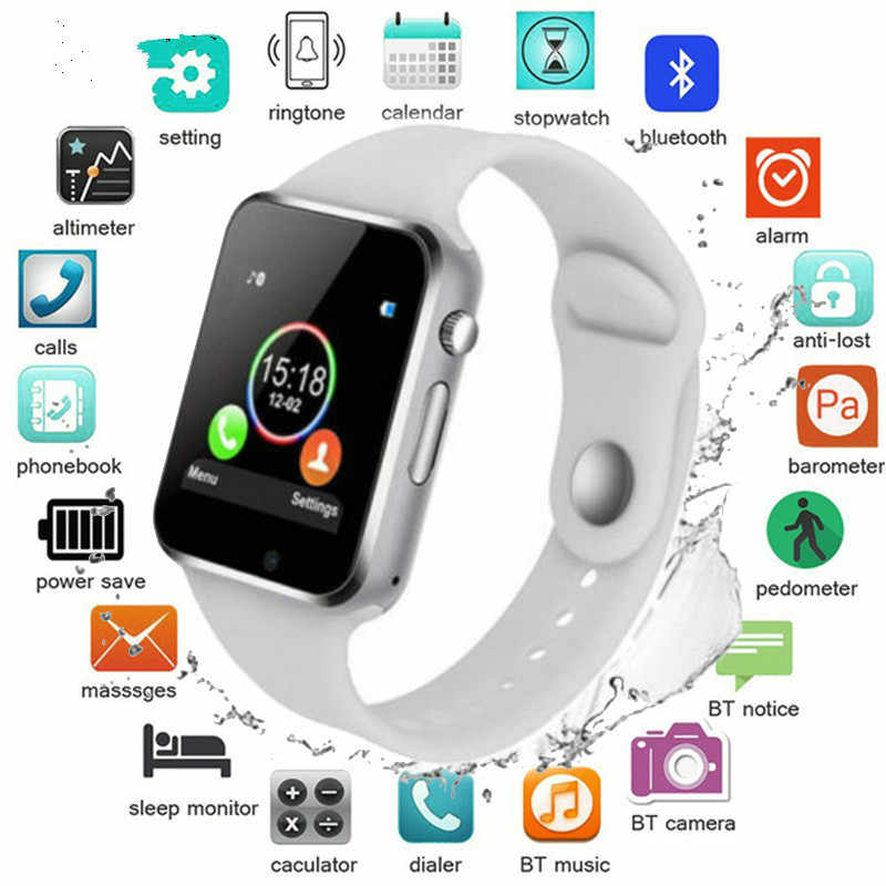 50% de réduction 42mm montre intelligente série 4 horloge Push Message connectivité Bluetooth pour téléphone Android IOS apple iPhone 6 7 8 X Smartwatch