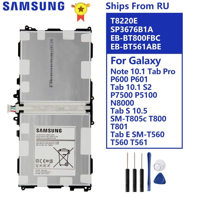 Batterie pour Samsung Note 10.1 Tab Pro P600 P601 SM-T520 SM-T525 SM-P605 P607T T8220E P7500 P5100 N8000 T800 T801 T805 T560 T561