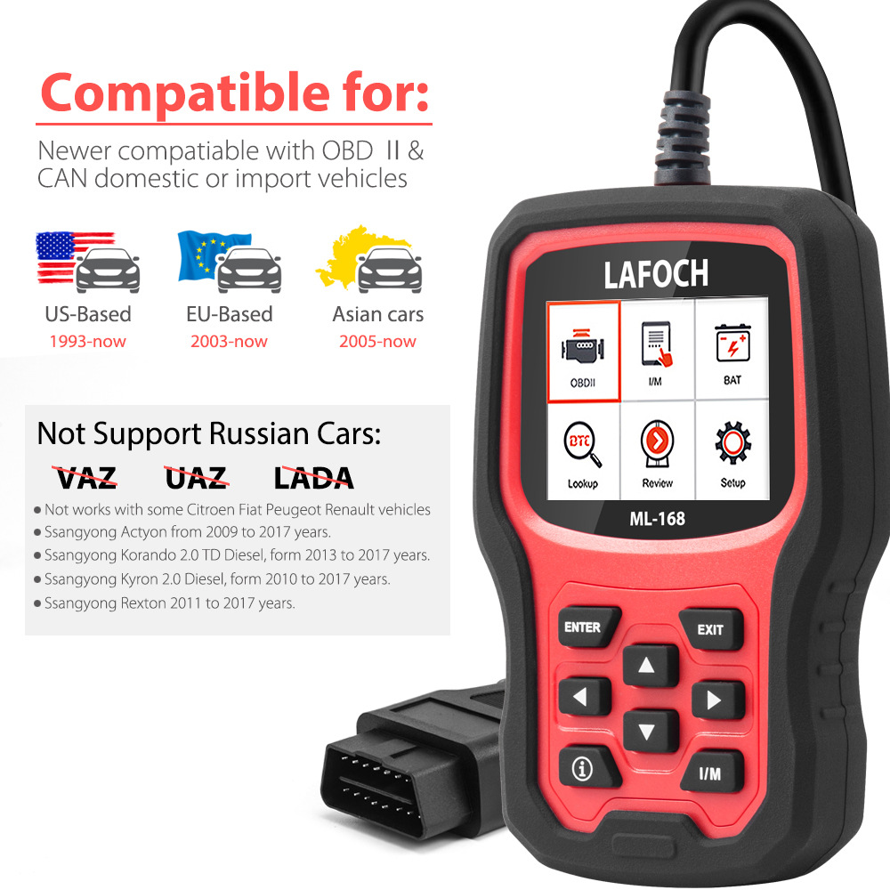 OBDII Fault Code Reader Universal Car Engine Diagnostic Scan Tool Enhanced Automotive Vehicle Scanner OBD2 Scanner